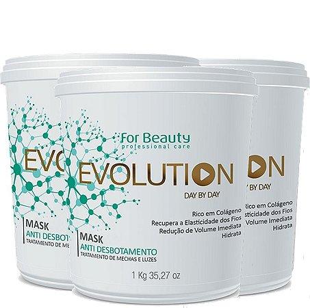 FOR BEAUTY EVOLUTION ANTI DESBOTAMENTO MASQUE 1kg  3 UNIDADES