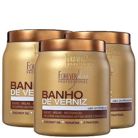 FOREVER LISS  BANHO DE VERNIZ  1Kg - 3 UNIDADES