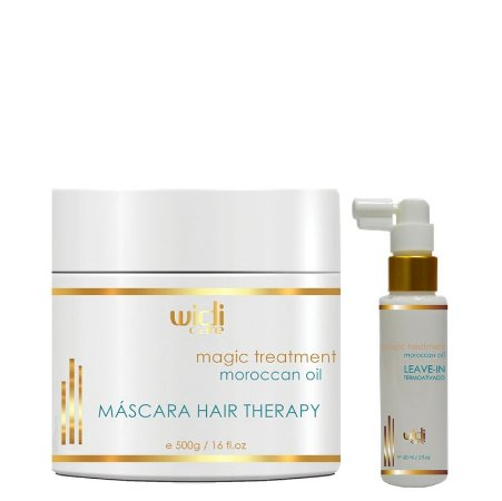 WIDI CARE MOROCCAN OIL MÁSCARA HAIR THERAPY 500g / MAGIC TREATMENT LEAVE-IN 60ml