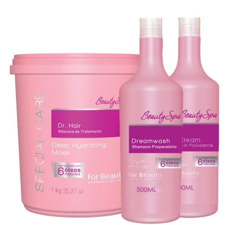 FOR BEAUTY KIT SPECIAL CARE SHAMPOO 500ml / LEAVE IN 500ml / DR HAIR 1kg