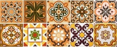 Kit Ladrilho Rustico - Com 40 peças de azulejos 15,4 x 15,4 cm