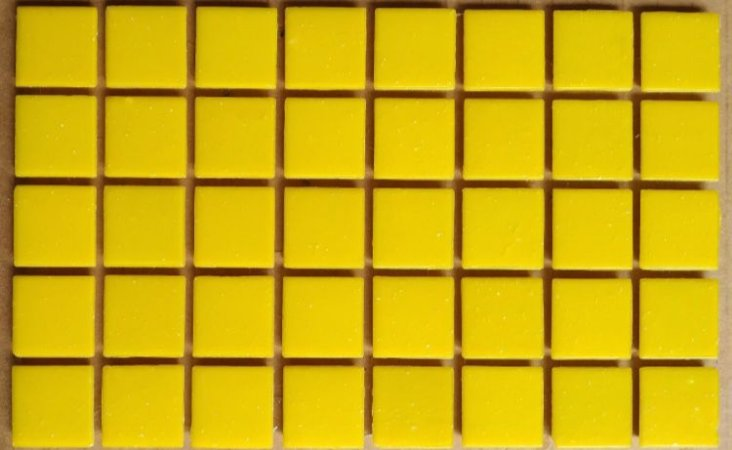 Pastilha Vidro Pigmentada Amarelo 2x2