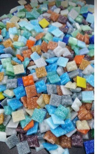 Pastilha Vidro Colorida para Mosaico 2x2cm