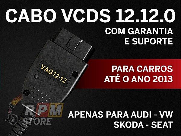 Cabo e Programa Scanner VAG-COM VCDS 12.12