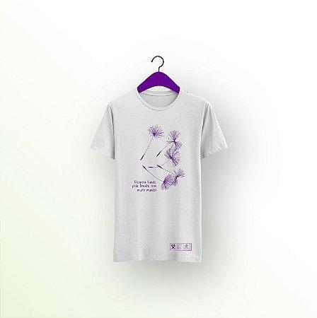 Camiseta Setembro Roxo 2021 - Respira fundo, pela frente tem muito mundo