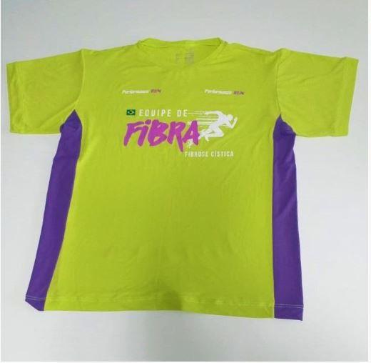 COMBO 4: Camiseta Equipe de Fibra + adesivo Unidos pela Vida