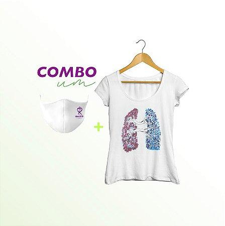 Combo 1: Camiseta A Cinco Passos de Você + máscara adulto UPV