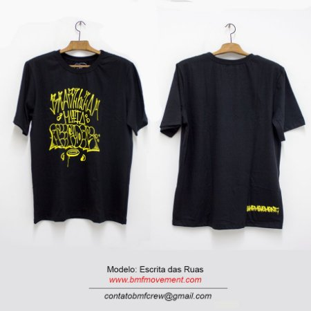 Camiseta Escrita das Ruas- preta