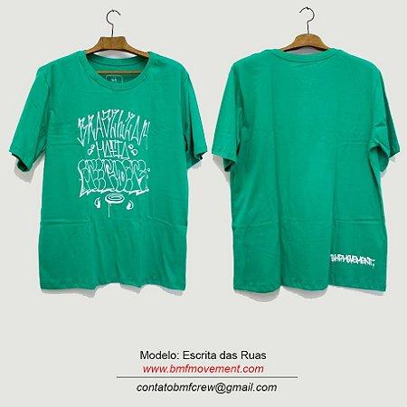 Camiseta Escrita das Ruas - verde