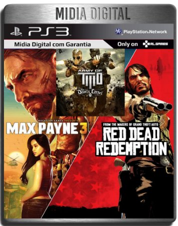 Red Dead Redemption Max Payne 3 Complete Army of Two The Devils Cartel - Ps3 Psn - Mídia Digital