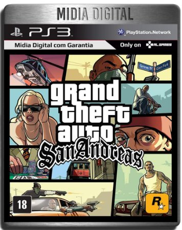 Grand Theft Auto Gta San Andreas HD - Ps3 Psn - Mídia Digital