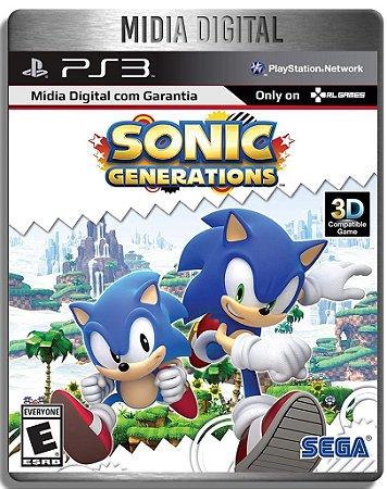 Sonic Generations - Ps3 Psn - Mídia Digital