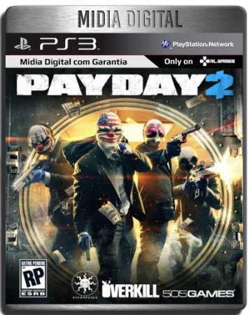 Payday 2 - Ps3 Psn - Mídia Digital