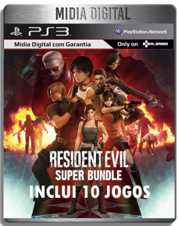 Resident Evil Super Bundle - 10 Jogos Da Saga - Ps3 Psn - Midia Digital