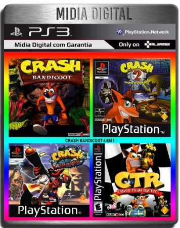 Crash Bandicoot Collection 4 Em 1 Clássicos de ps1 - Ps3 Psn - Midia Digital