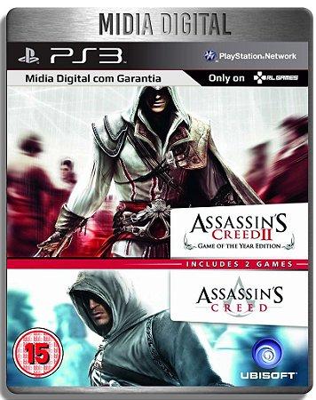 Assassins Creed 1 E 2 - Ps3 Psn - Midia Digital