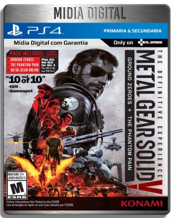 Metal Gear Solid 5 V The Definitive Experience - Ps4 Psn Primaria - Midia Digital