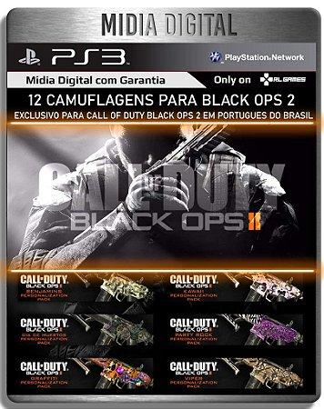 Pacote 12 Camuflagens para Black ops 2 em portugues - PS3 Playstation 3