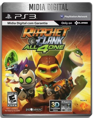 Ratchet And Clank All For 4 One - Ps3 Psn - Mídia Digital