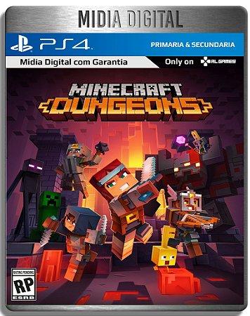 Minecraft Dungeons - Ps4 Psn - Mídia Digital Primária