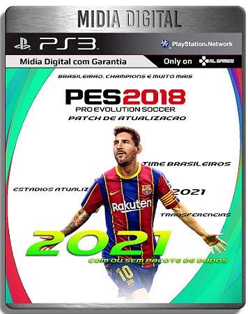 Patch de Atualização PES 2018 Elencos Times 2021 - Jogo nao Incluso - Ps3 - Mídia Digital