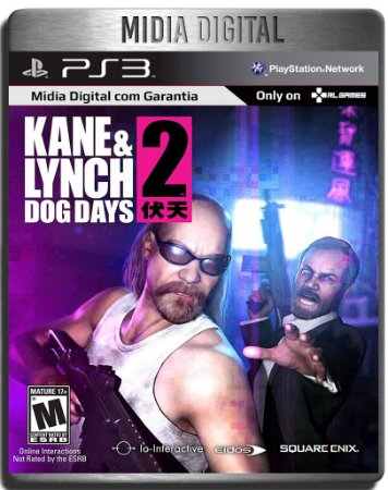 Kane e Lynch 2 Dogs Days - Ps3 Psn - mídia digital
