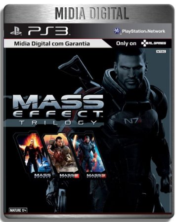 Mass Effect Trilogy- Ps3 Psn - Mídia Digital