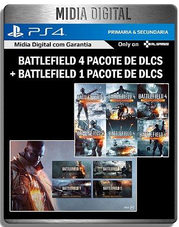 Pacote de DLCS Battlefield 1 + Battlefield 4 - Ps4 Psn - Mídia Digital Primaria