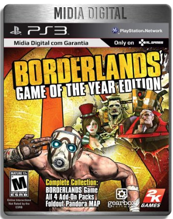 Borderlands Game of The Year + Todas as Dlcs - Ps3 Psn - Mídia Digital