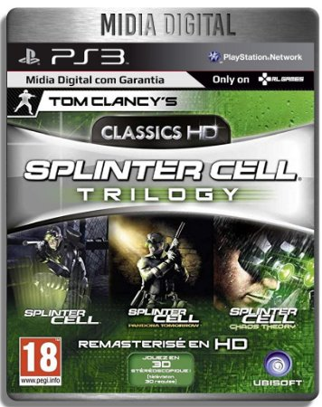 Splinter Cell Hd Trilogy - Ps3 Psn - Mídia Digital
