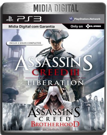 Assassins Creed Brotherhood & Liberation HD - Ps3 Psn - Mídia Digital