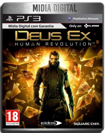 Deus Ex Human Revolution - Ps3 Psn - Mídia Digital