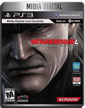 Metal Gear Solid 4 Guns of the Patriots - Ps3 Psn - Mídia Digital