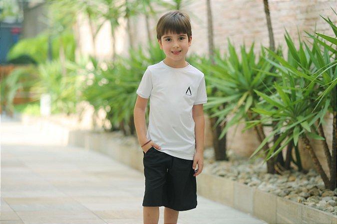 Camiseta Manga Curta Infanto/Juvenil Branca-Avenues
