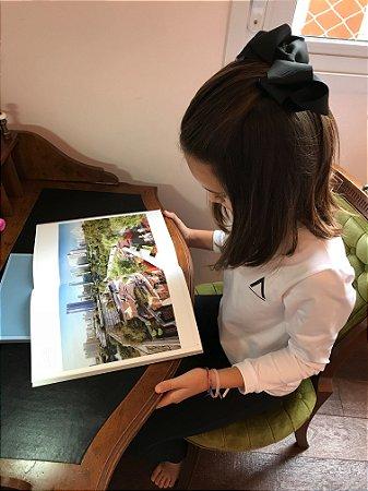 Camiseta  Branca Manga Longa Infanto/Juvenil-Avenues