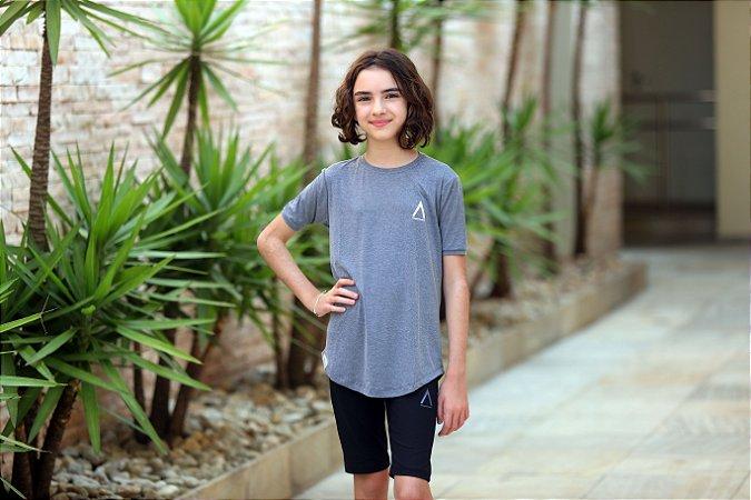Camiseta Cinza Feminina - Infanto/Juvenil