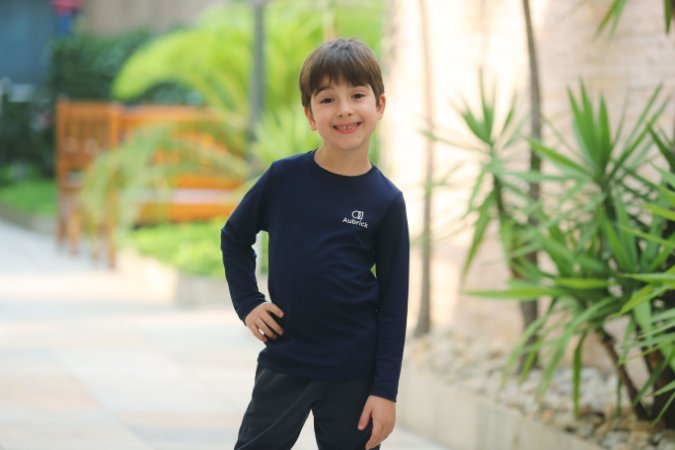 Camiseta Antiodor Manga Longa Infanto/Juvenil - Aubrick