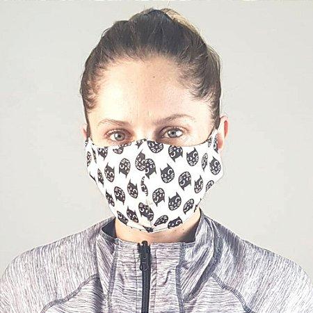Máscara de Tecido para Proteção UV.LINE - Gatinhos - Tam. U