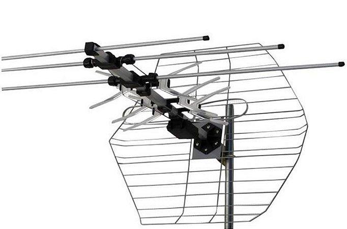 Antena Externa Parabólica HDTV Vhf UHF FM M7000