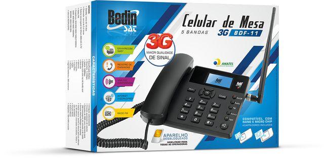 Celular de Mesa 5 bandas BDF-11 BEDINSAT 3G