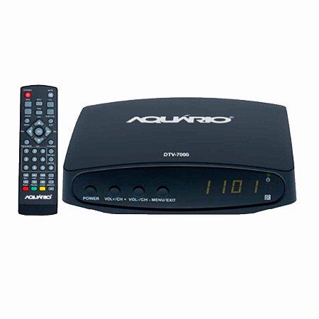 Conversor e Gravador Digital de TV Full HD Aquário DTV 7000 Bivolt