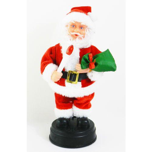 Enfeite De Natal Papai Noel Musical 24Cm - Wincy