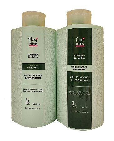 Kit shampoo e condicionador de babosa 1lt