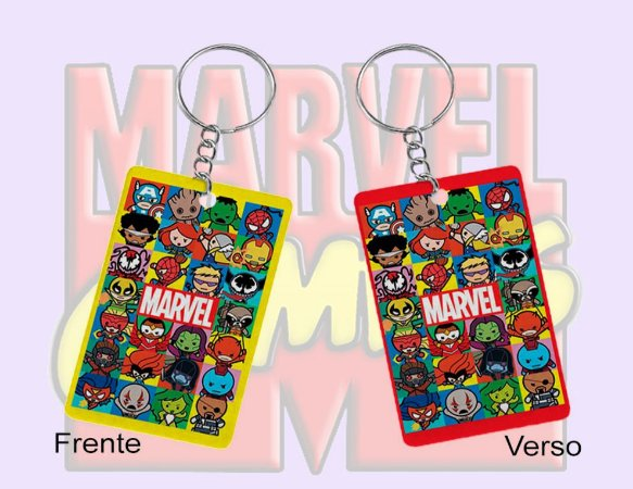 Chaveiro Marvel comics