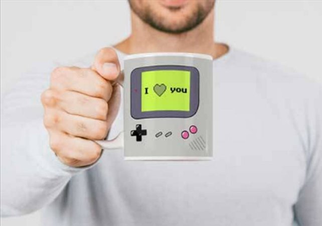 Caneca Nintendo Game Boy i love you