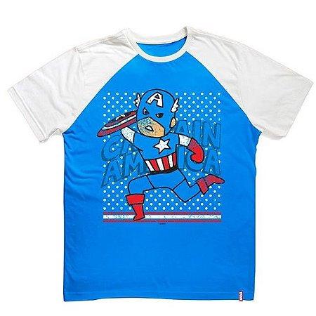 Camiseta Infantil Marvel Capitão América