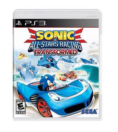 Sonic Allstars Racing Transformed Ps3 Mídia Física Lacrado