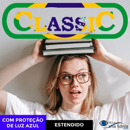 LENTE ANTIRREFLEXO CLASSIC | POLI | VISÃO SIMPLES | PROTEÇÃO LUZ AZUL | COMBINADOS COM ASTIGMATISMO ATÉ -4,00