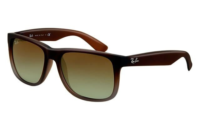 a878b0bb3d0d2 ... discount code for ray ban justin clÁssico marrom lentes verde degradÊ  d7427 f43a7