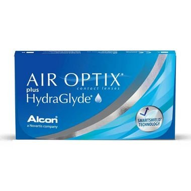 LENTE DE CONTATO AIR OPTIX PLUS HYDRAGLYDE | GRAU POSITIVO